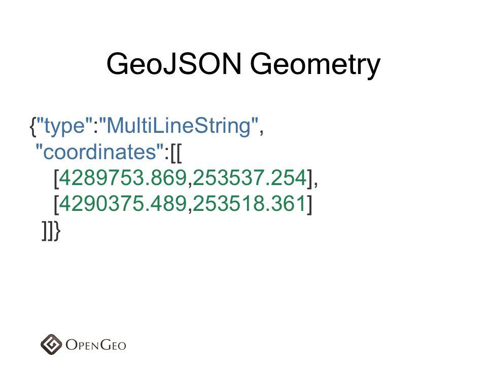 GeoJSON Geometry { type : MultiLineString , coordinates :[[